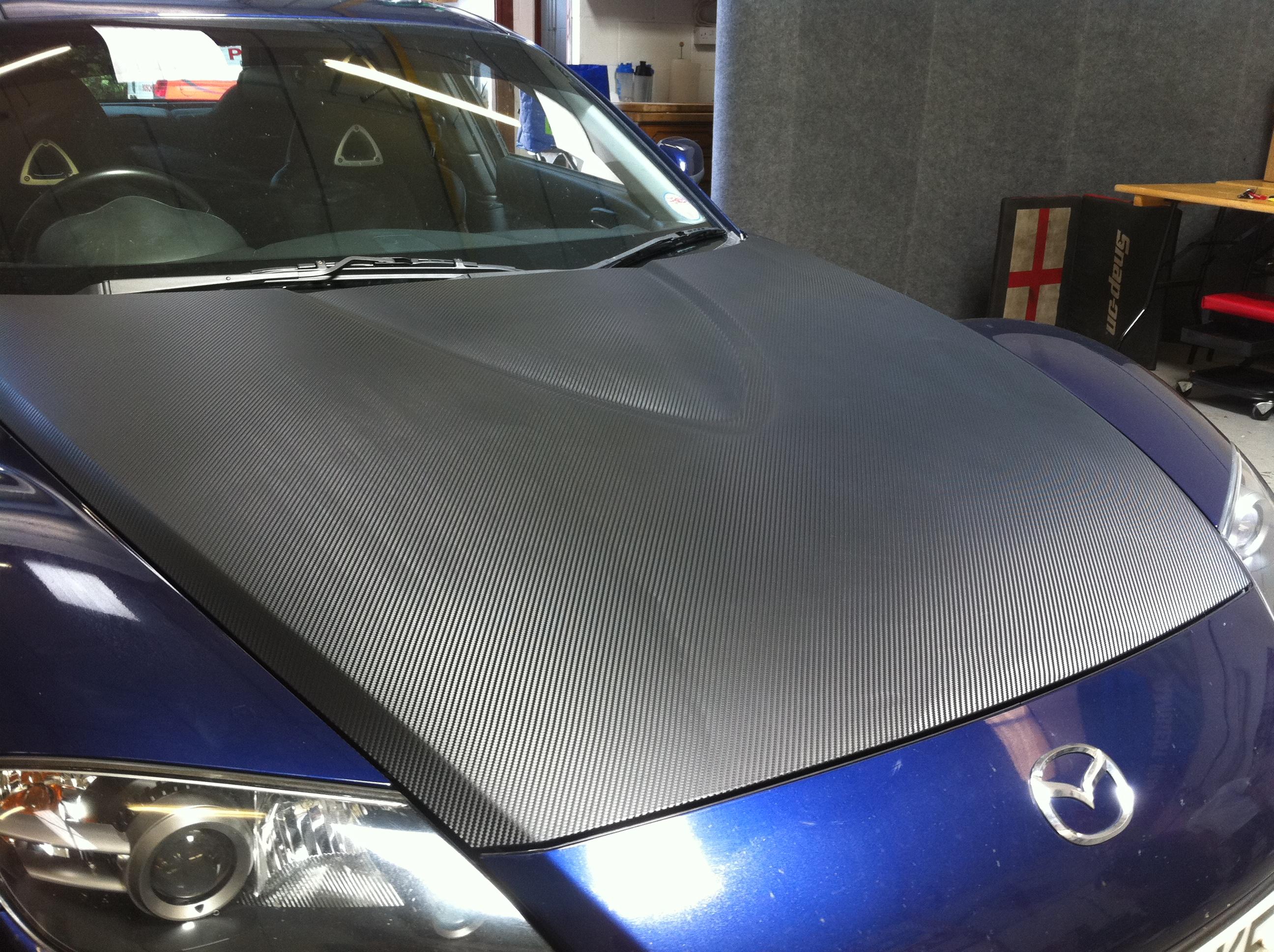 Mazda Rx8 Carbon Fibre Effect Vinyl Bonnet Wrap Ambient