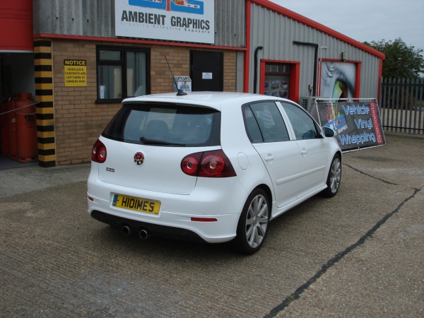 VW Golf R32 white wrap | AMBIENT GRAPHICS